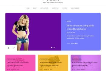 Parity – Blog Website WordPress Theme