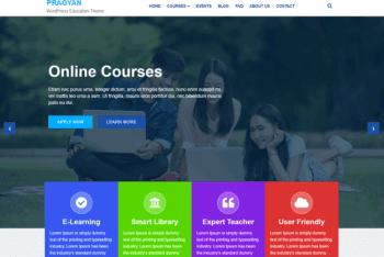 Pragyan – Educational Website WordPress Theme