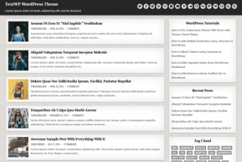 TextWP – WordPress Blogging Theme