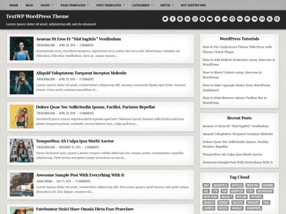 TextWP - WordPress blogging theme