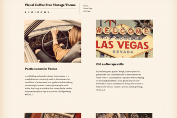 Visual Coffee – Free Vintage WordPress theme