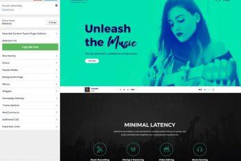 Abletone – Music Website WordPress Theme for Free
