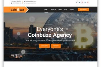 Coinbuzz – Cryptocurrency Website HTML Template