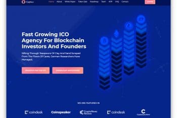 Cryptian – Cryptocurrency Website HTML Template