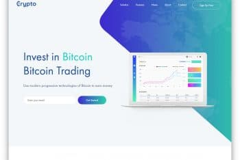 Crypto Currency – Free Cryptocurrency Website Template