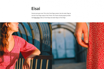 Eisai – Simple WordPress Blog Theme for Free