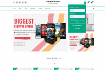 Ghumti Green – A Free Modern Ecommerce WordPress Theme