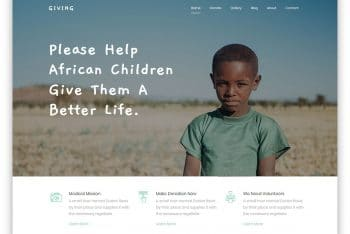 Giving – Non-Profit Website HTML Template