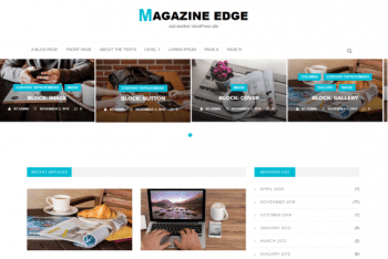 Magazine Edge – Free WordPress Theme