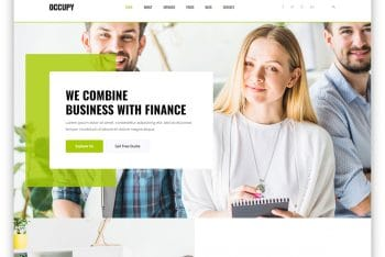 Occupy – Free Finance Website HTML Template