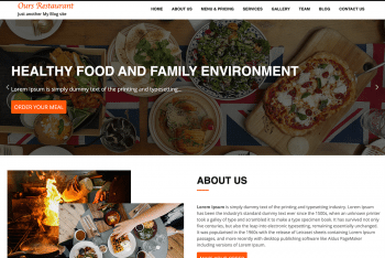 Ours Restaurant – Restaurant Website WordPress Theme for Free