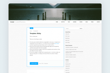 Starlight – Modern Blog WordPress Theme for Free