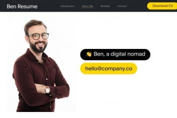 Ben Resume – Free HTML Template for One-page Profile