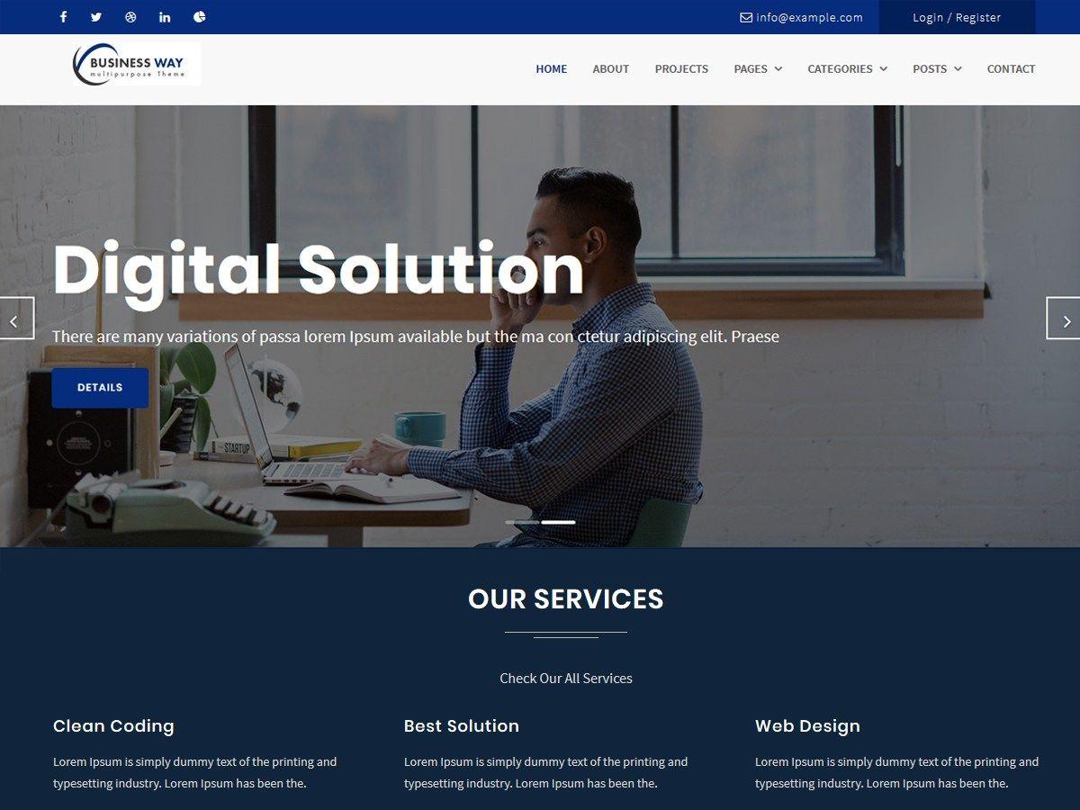 Business way - free business WordPress theme