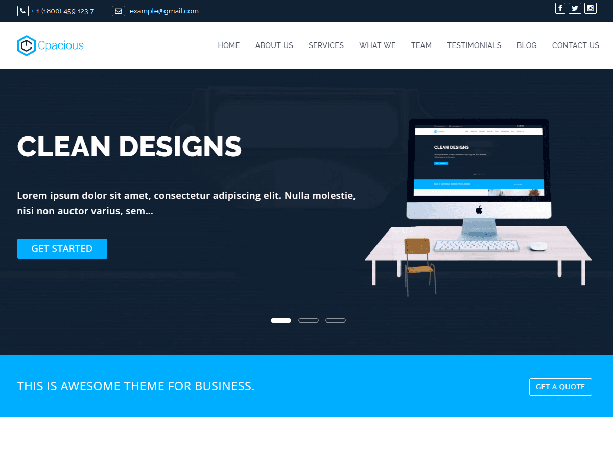 Capacious - versatile WordPress theme