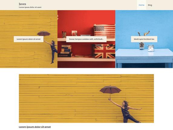 Javes - minimal WordPress theme