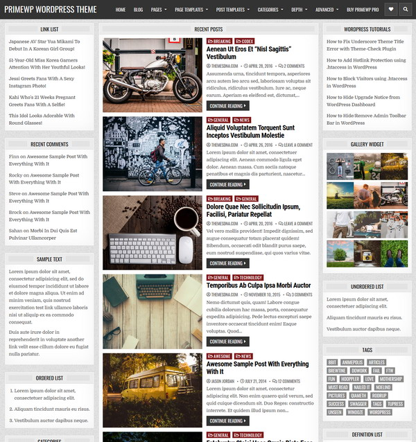 PrimeWP - WordPress news and blogging website theme