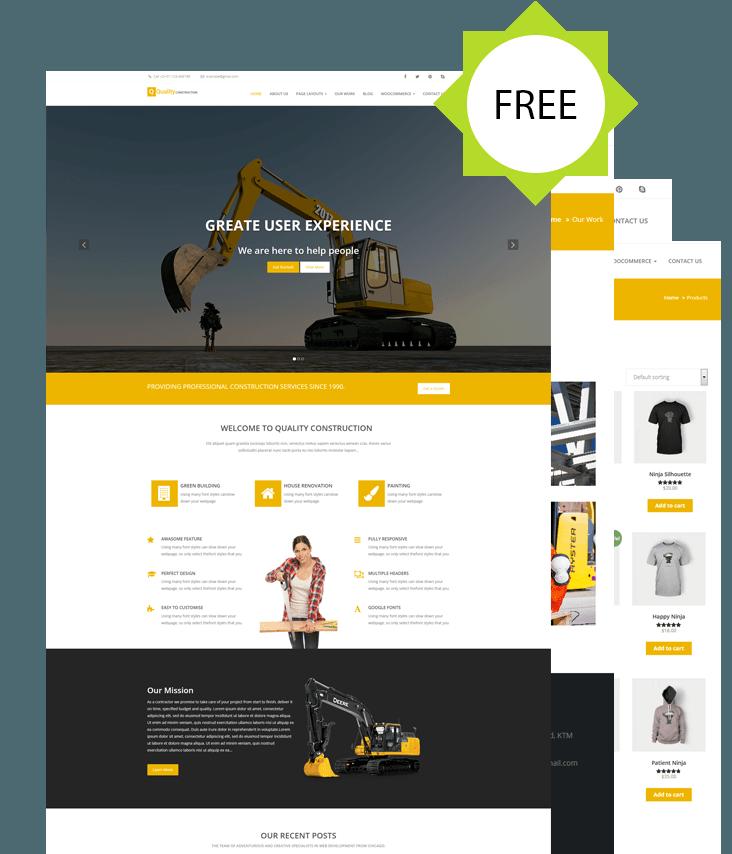 Quality Construction - construction website WordPress theme