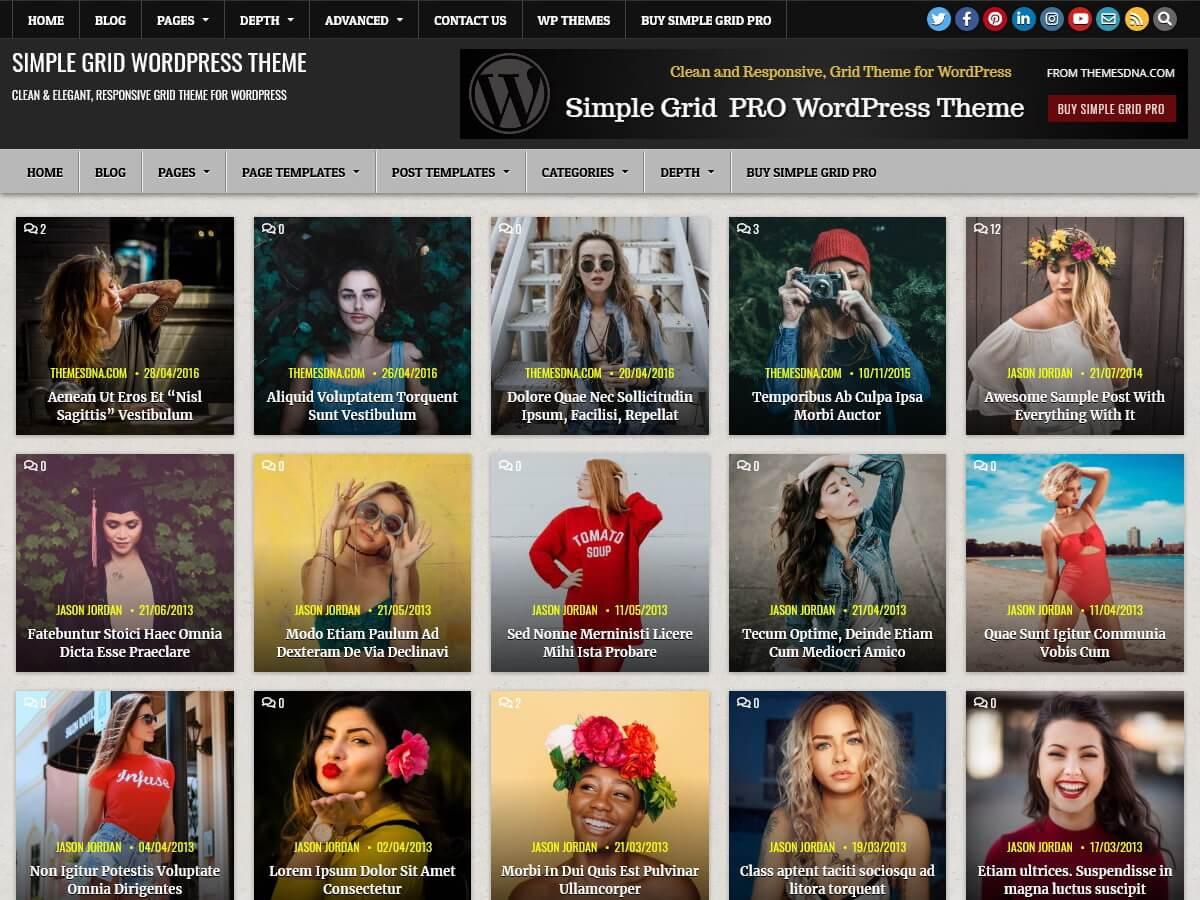 Simple Grid - minimal versatile WordPress theme