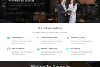 Clean Corporate – A Free Corporate Website WordPress Theme