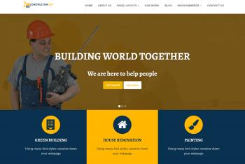 Construction Get – Free Construction Website WordPress Theme