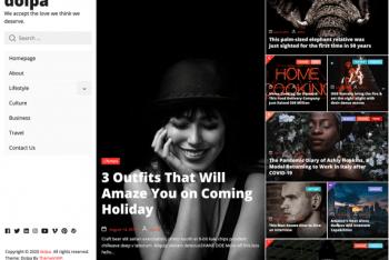 Dolpa – A Free WordPress Blogging Theme