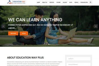 Education Way – A Free Education Website WordPress Theme