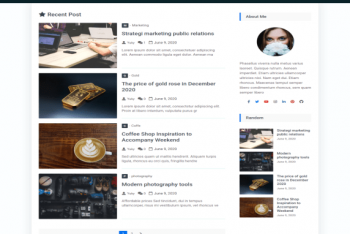 Goblog – A Free Blogging Website WordPress Theme