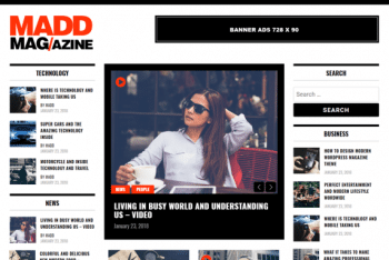 Madd Magazine – A Fully Responsive WordPress Theme for Free
