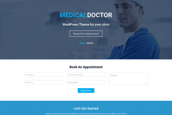 Mediclean – A Free Medical Website WordPress Theme