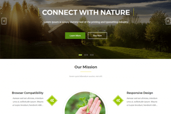 Nature Bliss – Free Environment Website WordPress Theme