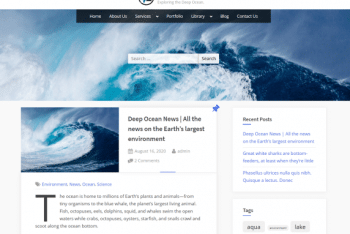Oceanly – A Responsive & Multipurpose WordPress Theme for Free