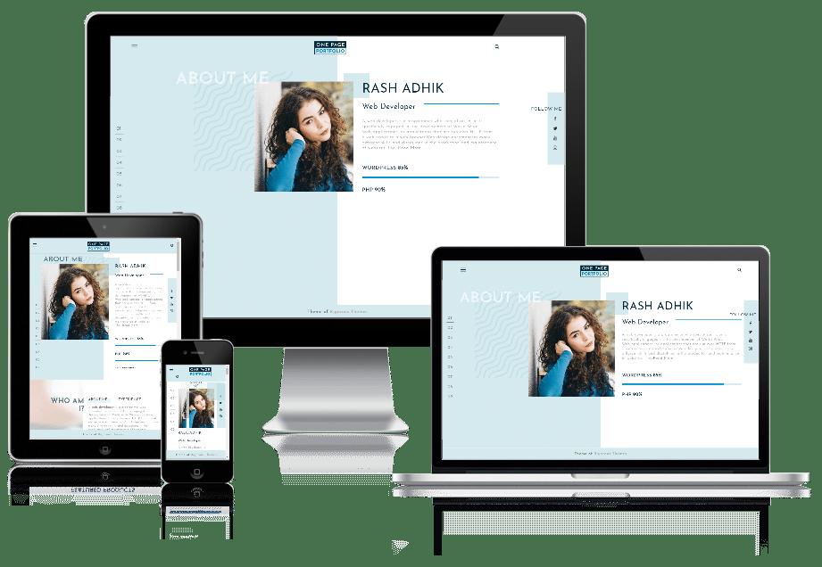One Page Portfolio - multipurpose WordPress theme