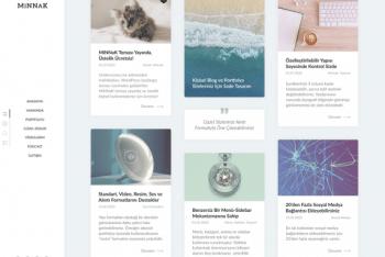 MiNNaK – Portfolio Website WordPress Theme for Free
