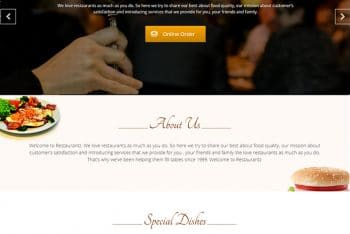 Restaurantz – Free Restaurant Website WordPress Theme
