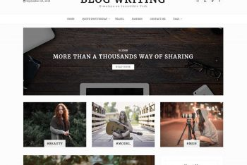 Blog Writing – A Free SEO-friendly WordPress Blog Theme