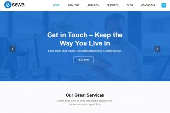 Sewa – Free Business Website WordPress Theme