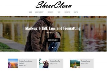 Shree Clean – Free WordPress Theme for User-friendly Websites
