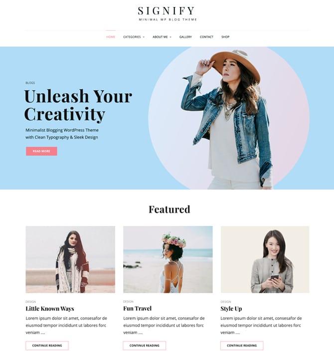 Signify - Corporate website WordPress theme