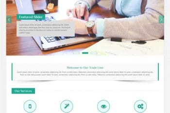 Trade Line – Business WordPress Theme