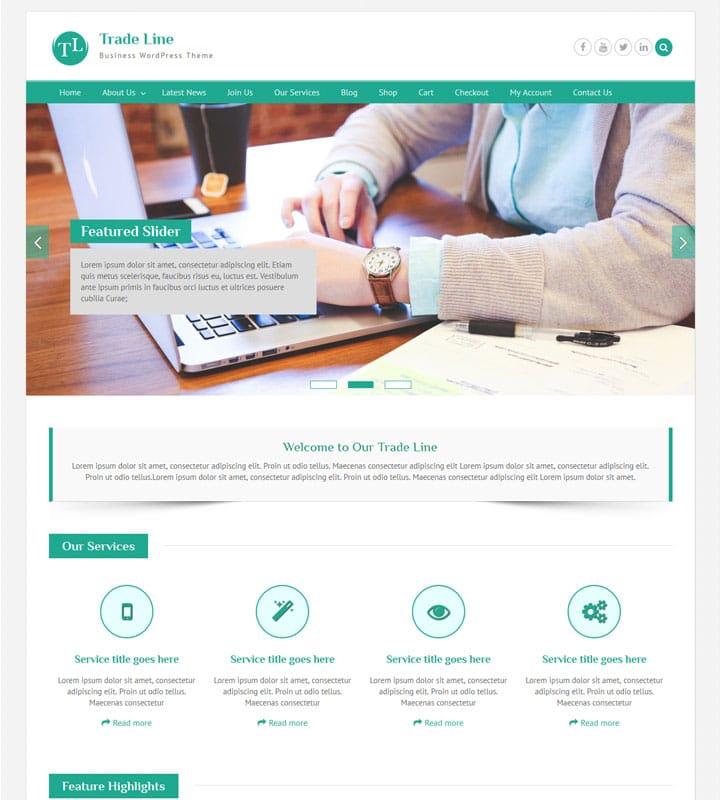 Trade Line - business WordPress theme