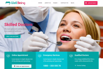 Wellbeing Hospital – Medical Website WordPress Theme for Free