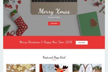 X Bliss – A Free Holiday WordPress Theme