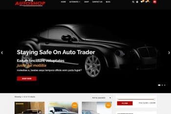 Autoshop – Automobile Shopping Website WordPress Theme for Free