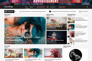 CoverMag – WordPress Magazine & Blogging Theme for Free