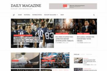 Daily Magazine – Elegant Magazine WordPress Theme for Free