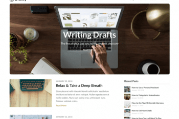 Draftly – Content Publishing Website WordPress Theme for Free