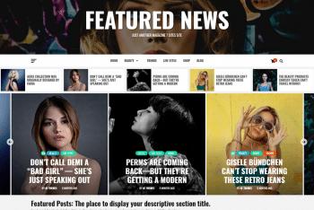 Featured News – Free Magazine Website WordPress Theme