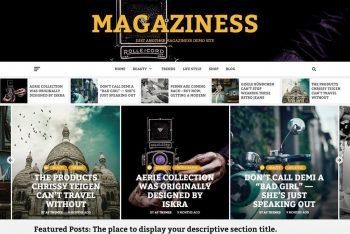 Magaziness – Minimal Blogging & Magazine WordPress Theme for Free