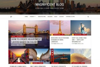 Magnificent Blog – Elegant WordPress Theme for Free